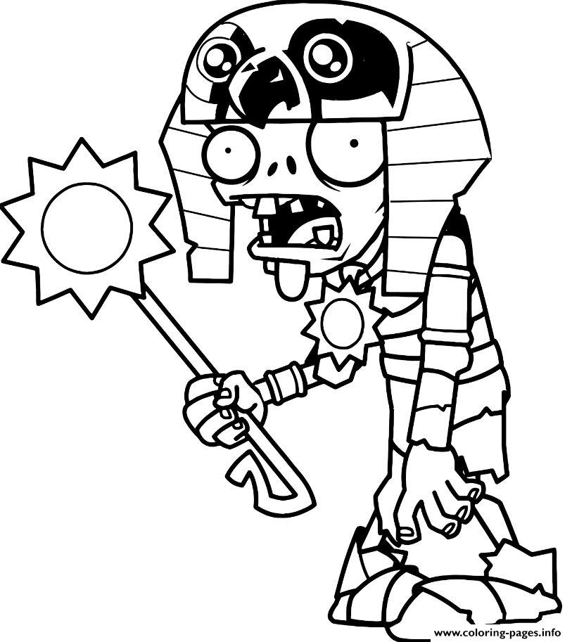 egypt plants vs zombies coloring pages printable
