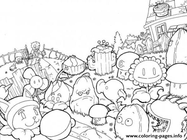 World Plants Vs Zombies Coloring Pages Printable