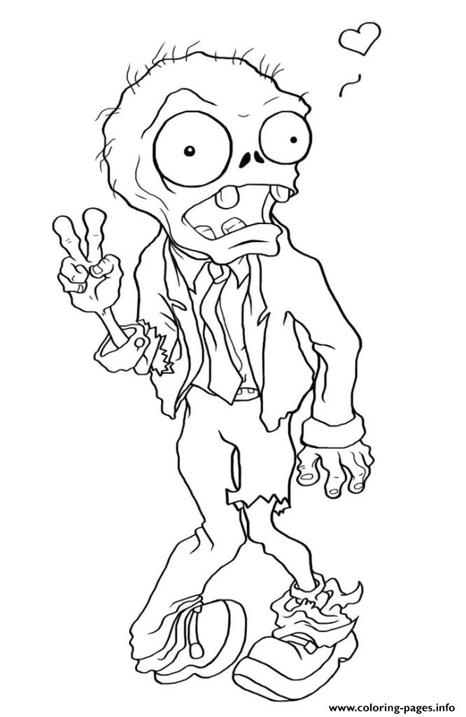 zombie peace plants vs zombies coloring pages