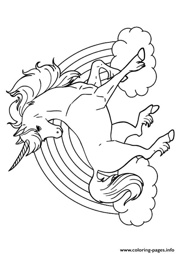 Rainbow unicorn unicorn coloring pages printable for Rainbow unicorn coloring pages