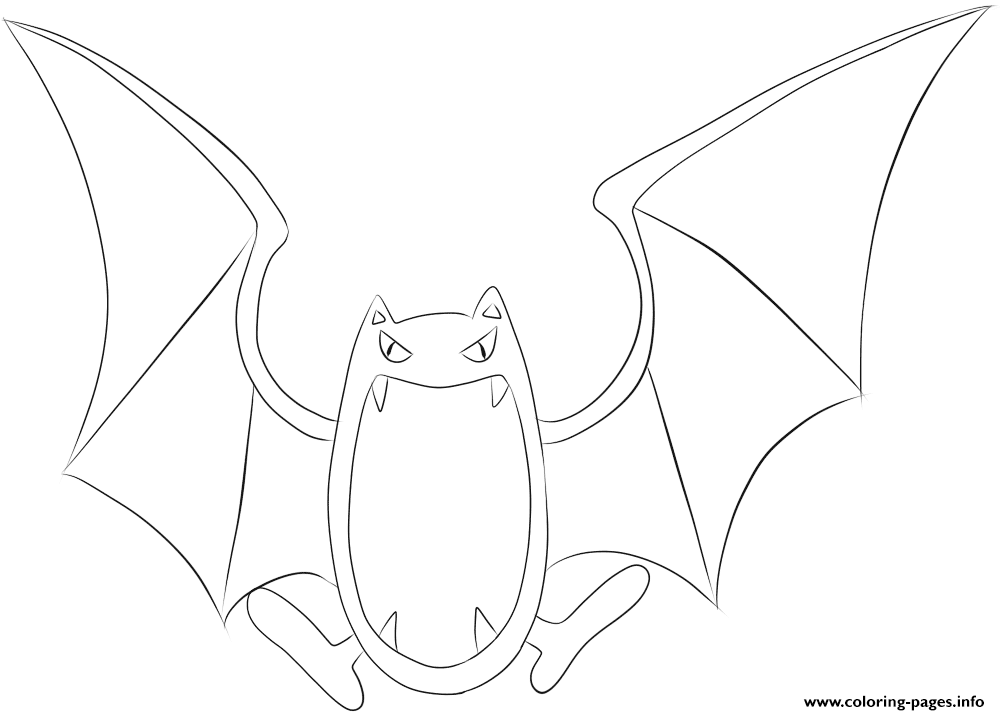 042 Golbat Pokemon coloring pages