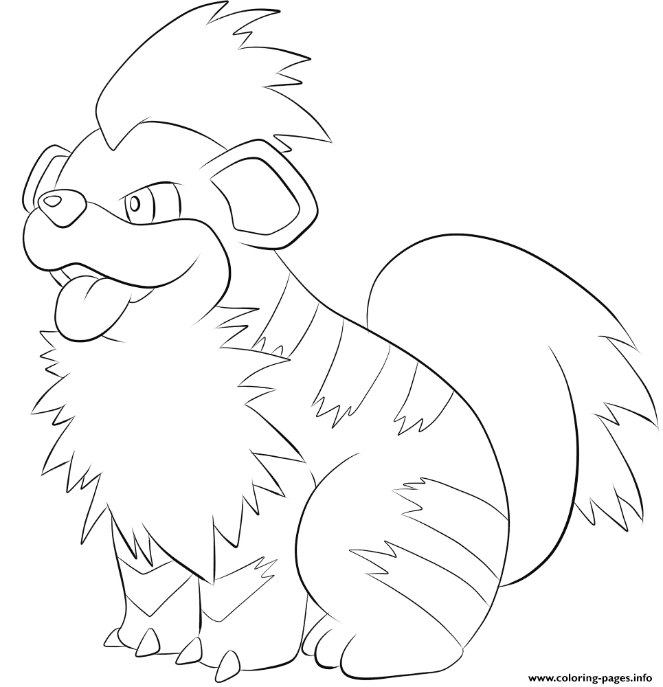 058 Growlithe Pokemon coloring pages