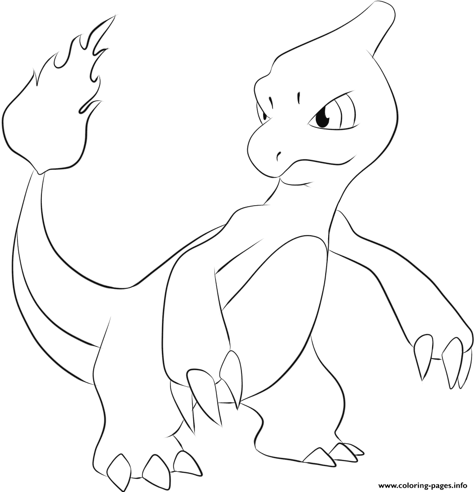 005 Charmeleon Pokemon coloring pages