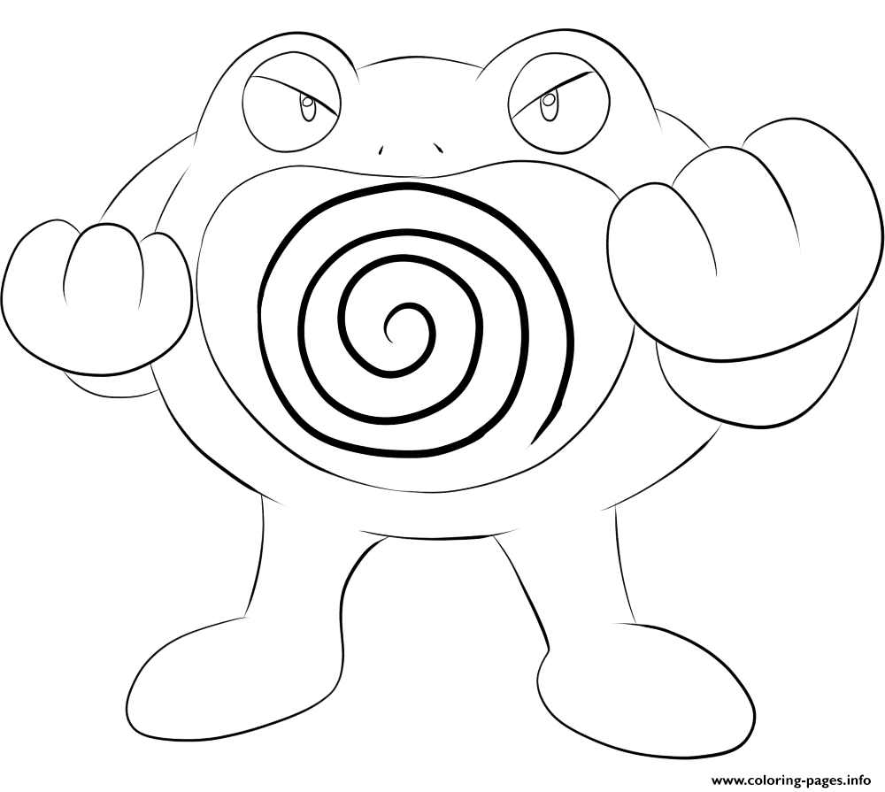 Pokemon Xyz Kleurplaat 062 Poliwrath Pokemon Coloring Pages Printable