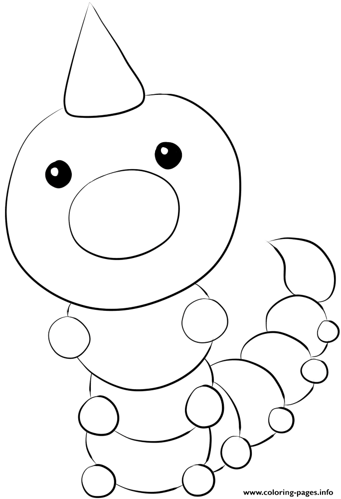 013 Weedle Pokemon coloring pages