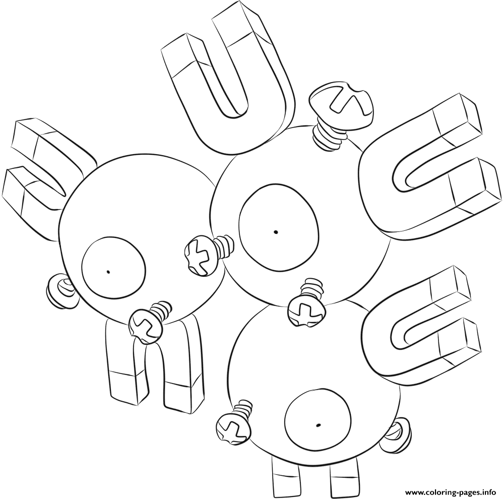 082 Magneton Pokemon coloring pages