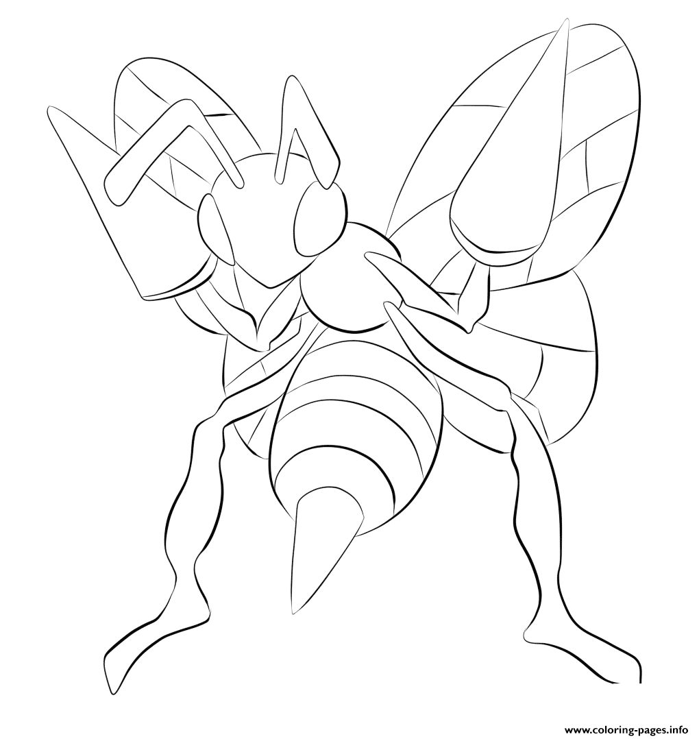 015 Beedrill Pokemon coloring pages