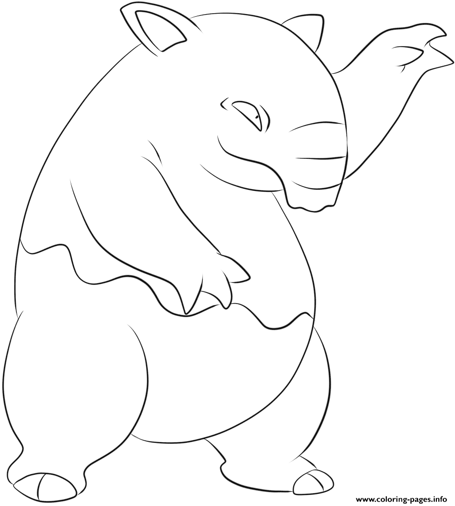 096 drowzee pokemon coloring pages printable