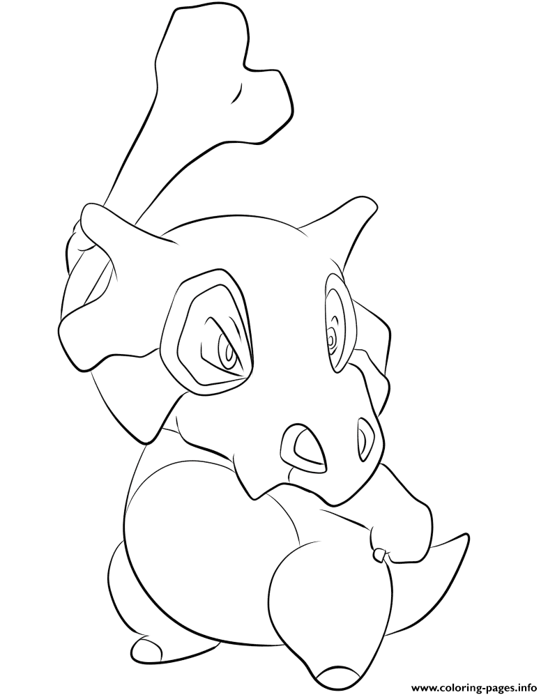104 Cubone Pokemon Coloring Pages Printable
