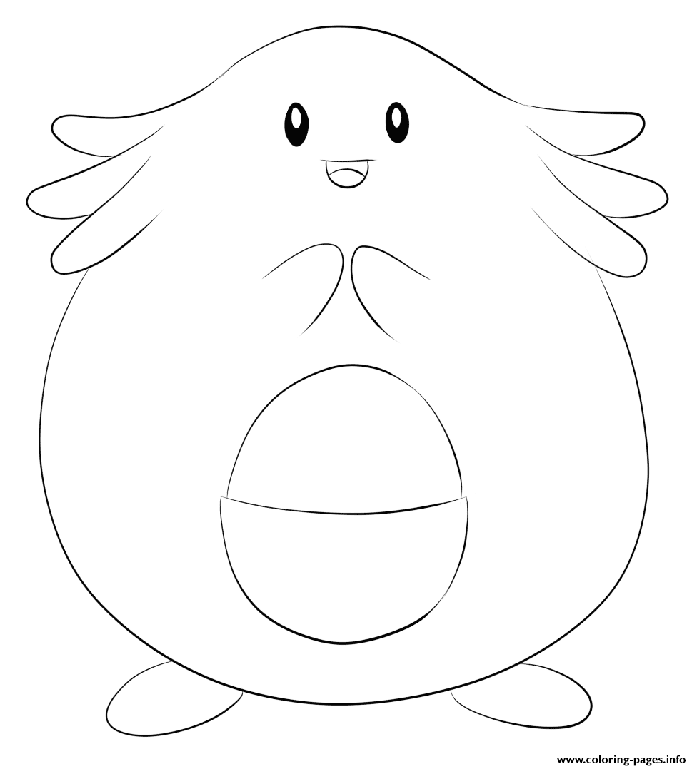 113 Chansey Pokemon coloring pages