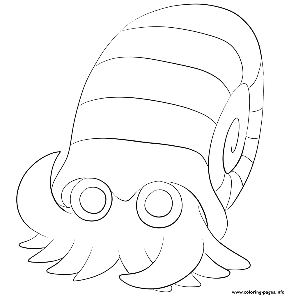 138 Omanyte Pokemon Coloring Pages Printable