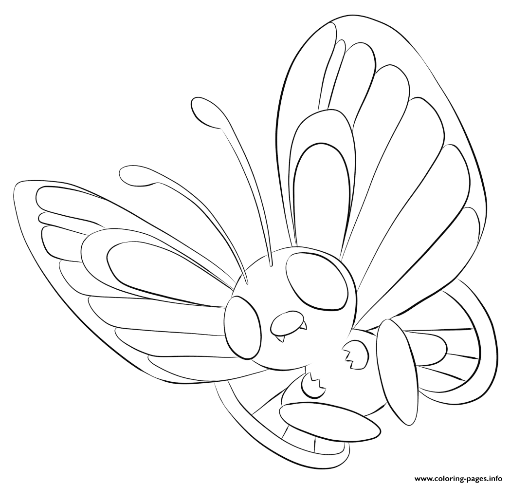 012 butterfree pokemon coloring pages