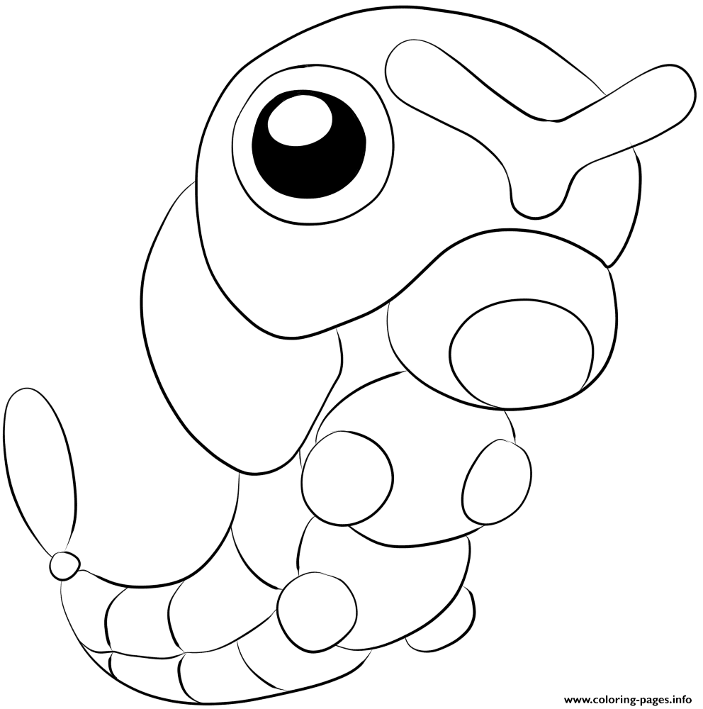 010 Caterpie Pokemon coloring pages