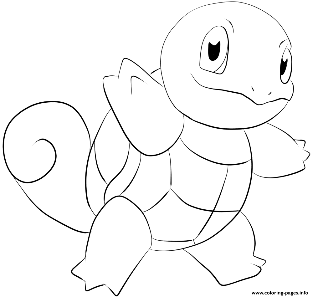 007 squirtle pokemon coloring pages printable