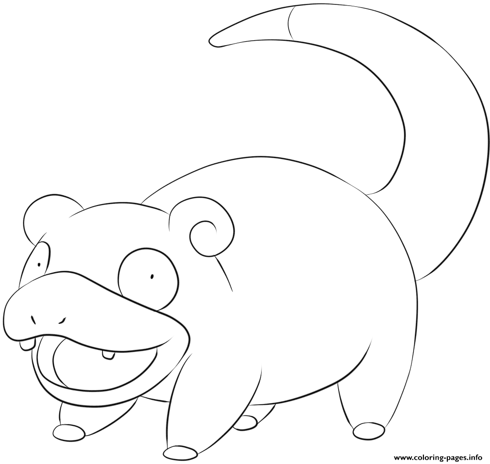 079 slowpoke pokemon coloring pages printable