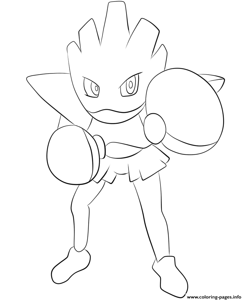 107 Hitmonchan Pokemon coloring pages