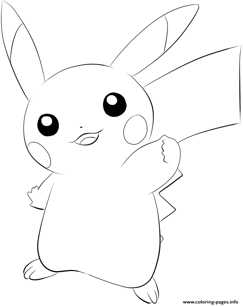 025 Pikachu Pokemon Coloring Pages Printable