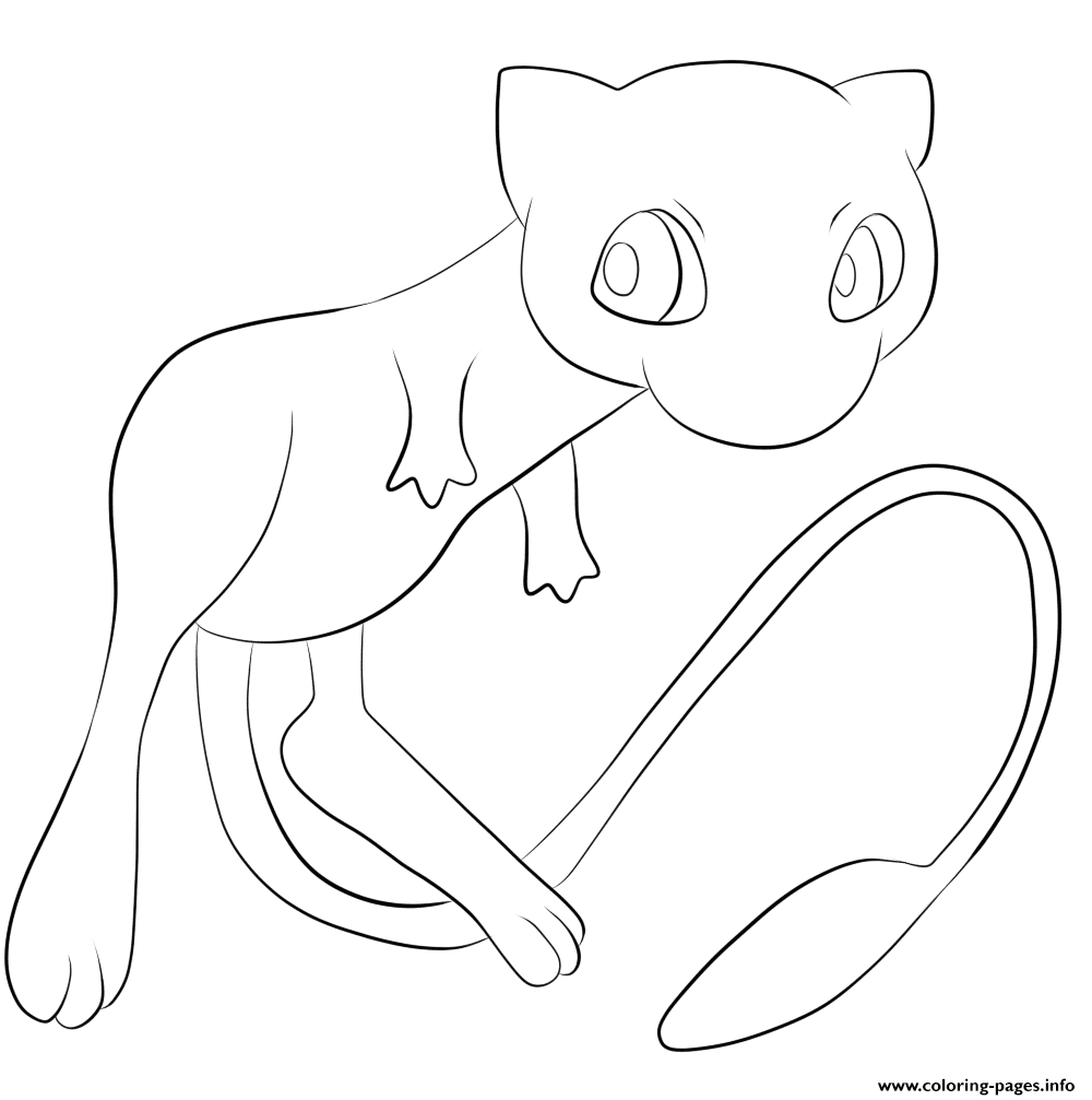 151 Mew Pokemon Coloring Pages