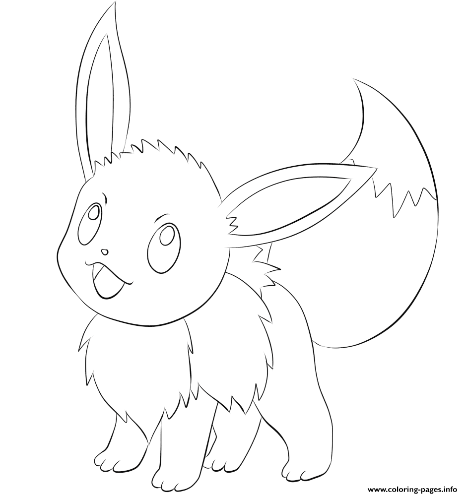 133 Eevee Pokemon coloring pages