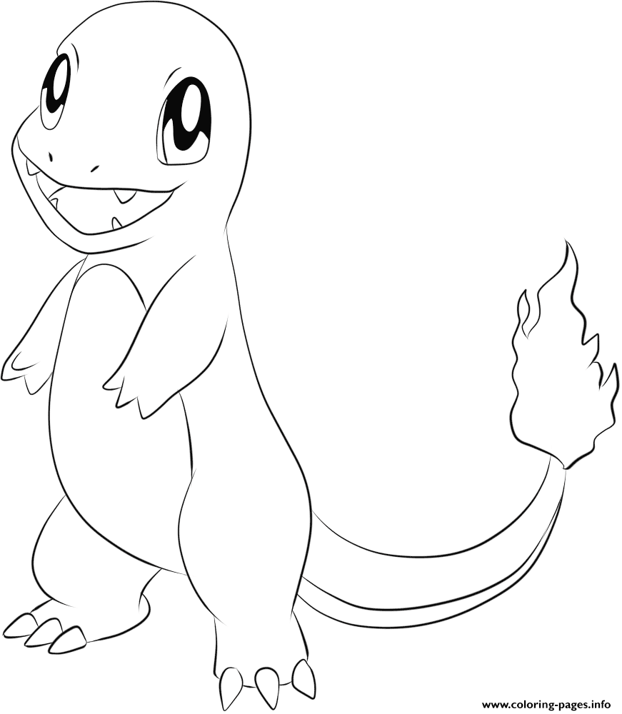 004 Charmander Pokemon Coloring Pages Printable