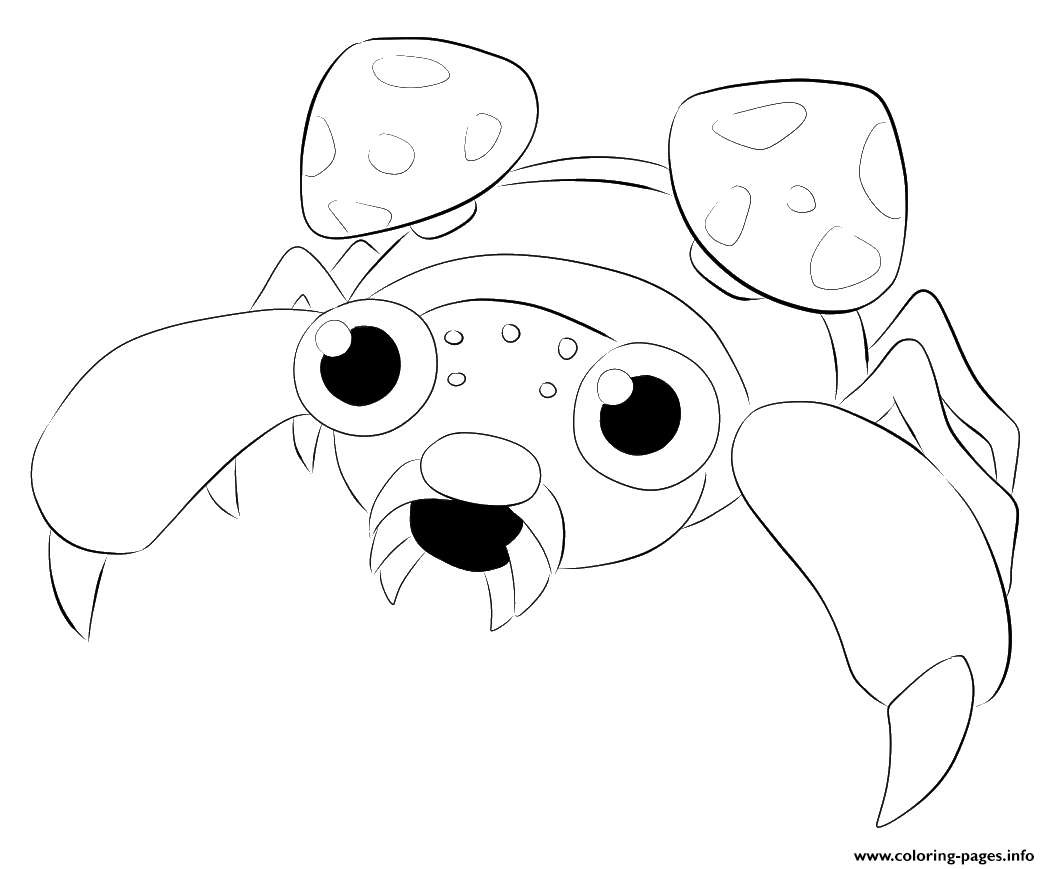 Dibujos Para Colorear De Pokemon: 046 Paras Pokemon Coloring Pages Printable