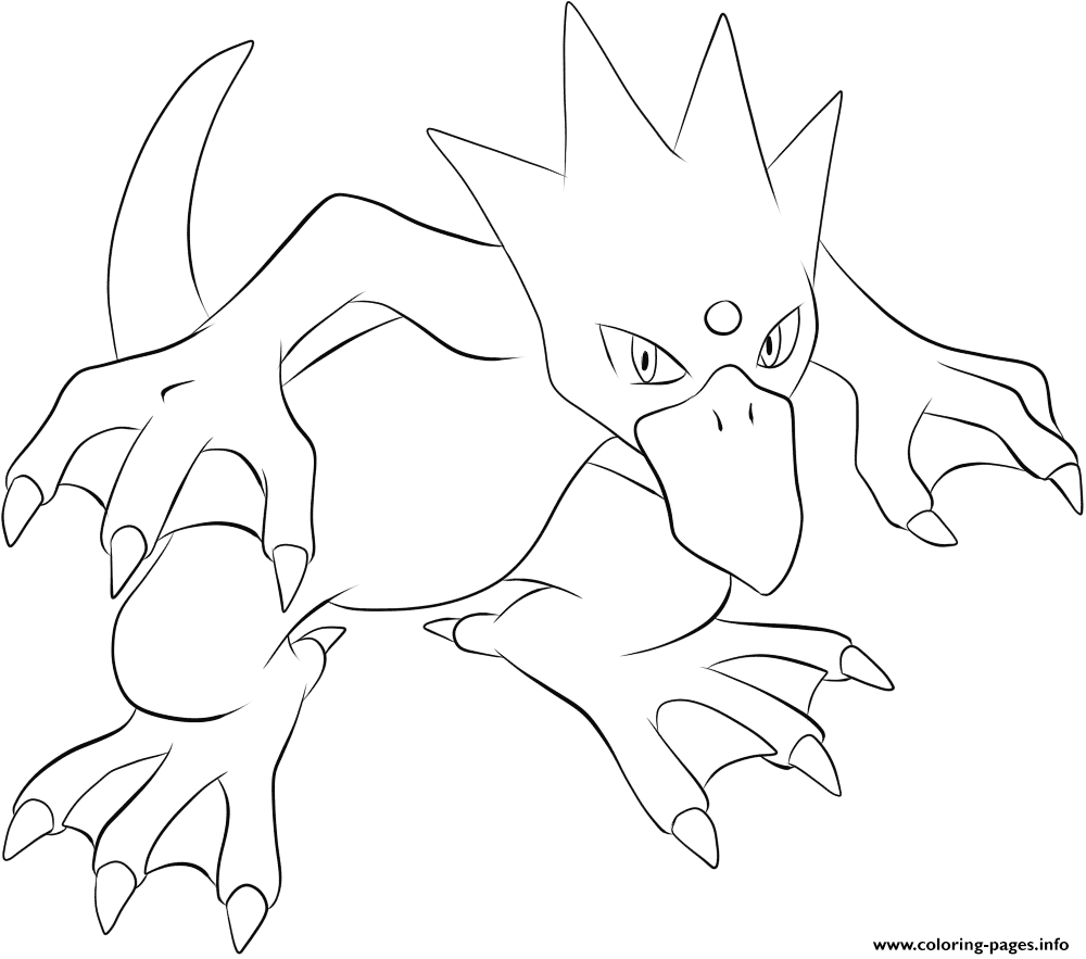055 Golduck Pokemon Coloring Pages