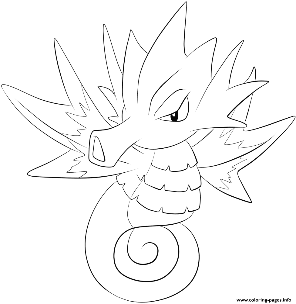 117 Seadra Pokemon Coloring Pages Printable