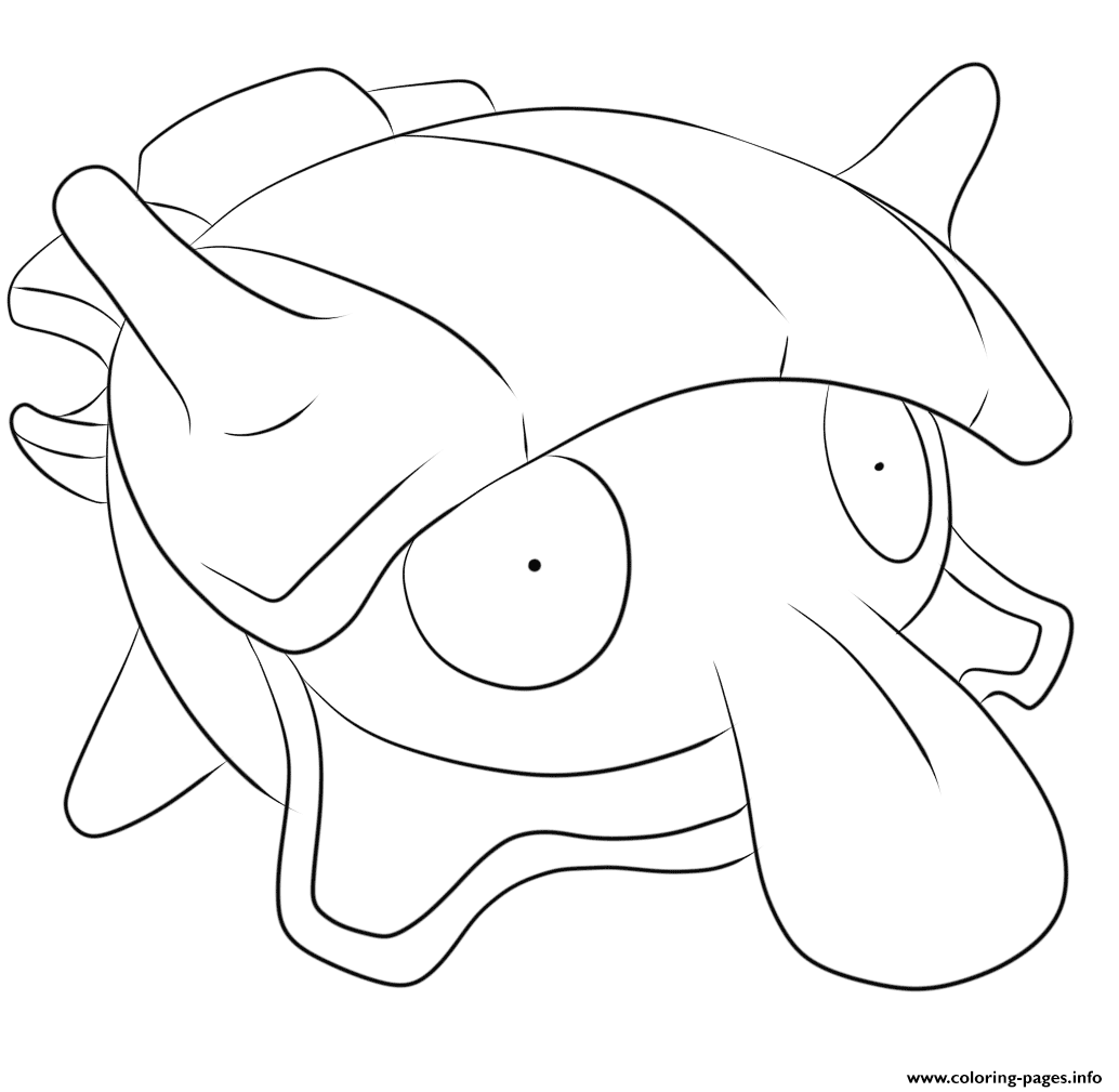 090 Shellder Pokemon coloring pages
