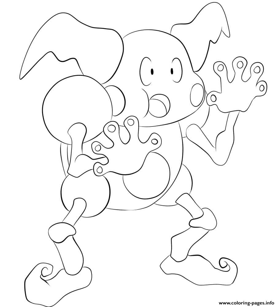 122 mr mime pokemon coloring pages
