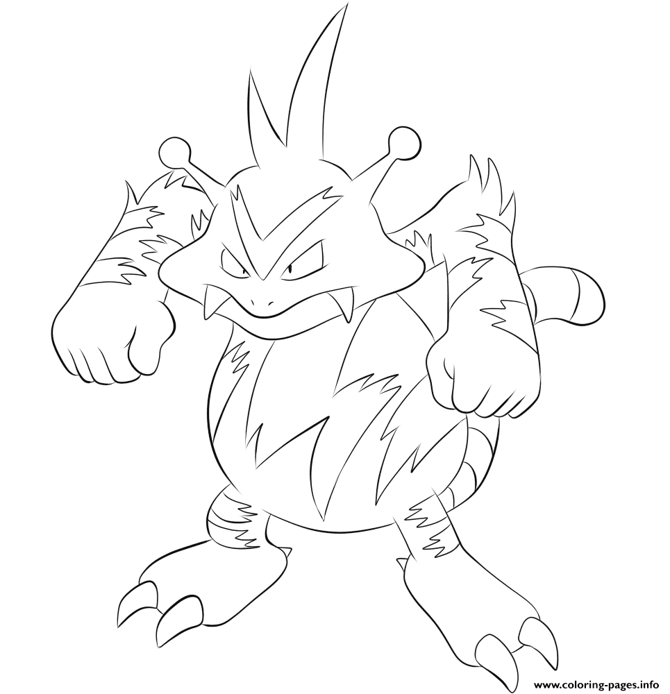 125 Electabuzz Pokemon coloring pages