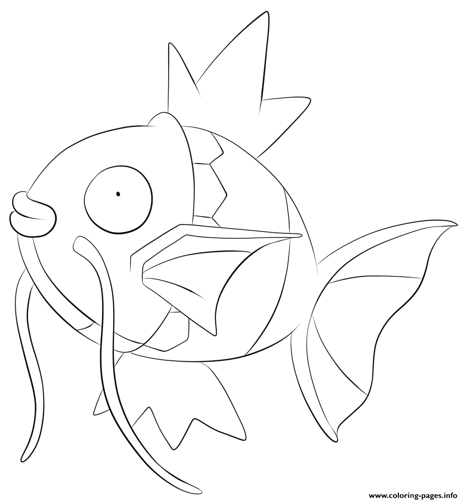 129 Magikarp Pokemon coloring pages