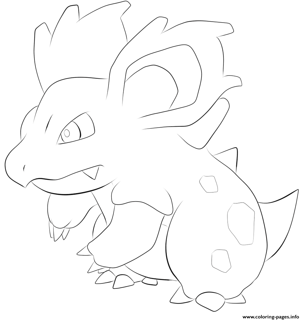 030 nidorina pokemon coloring pages