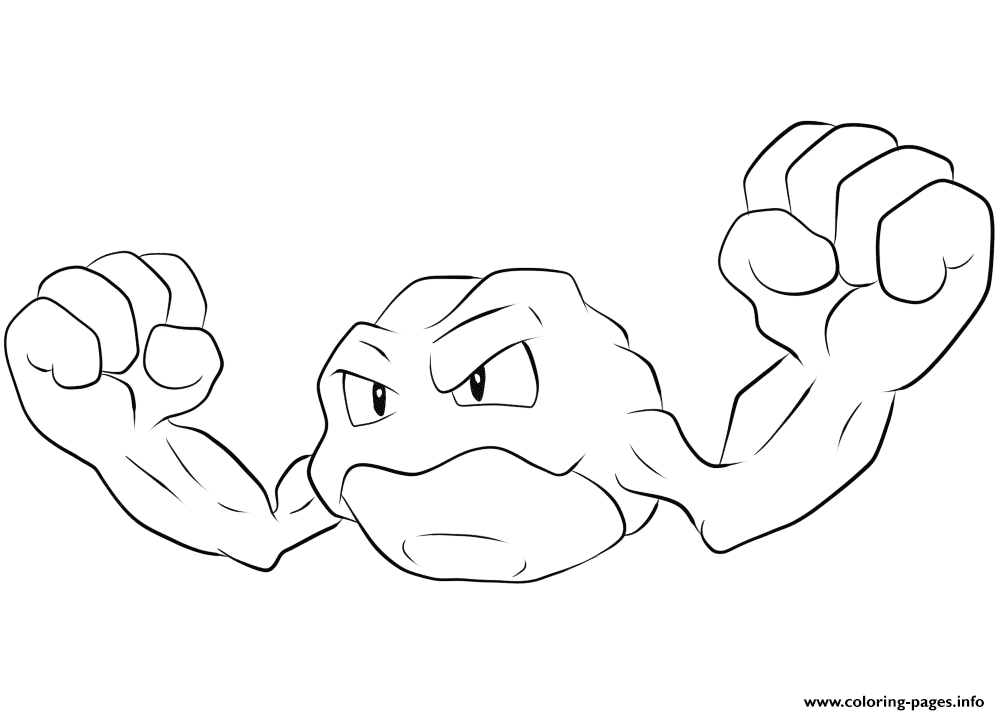 photo regarding Pokemon Printable Pages referred to as 074 Geodude Pokemon Coloring Internet pages Printable