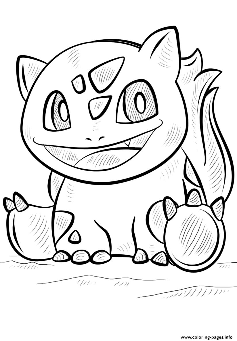bulbasaur pokemon go coloring pages printable