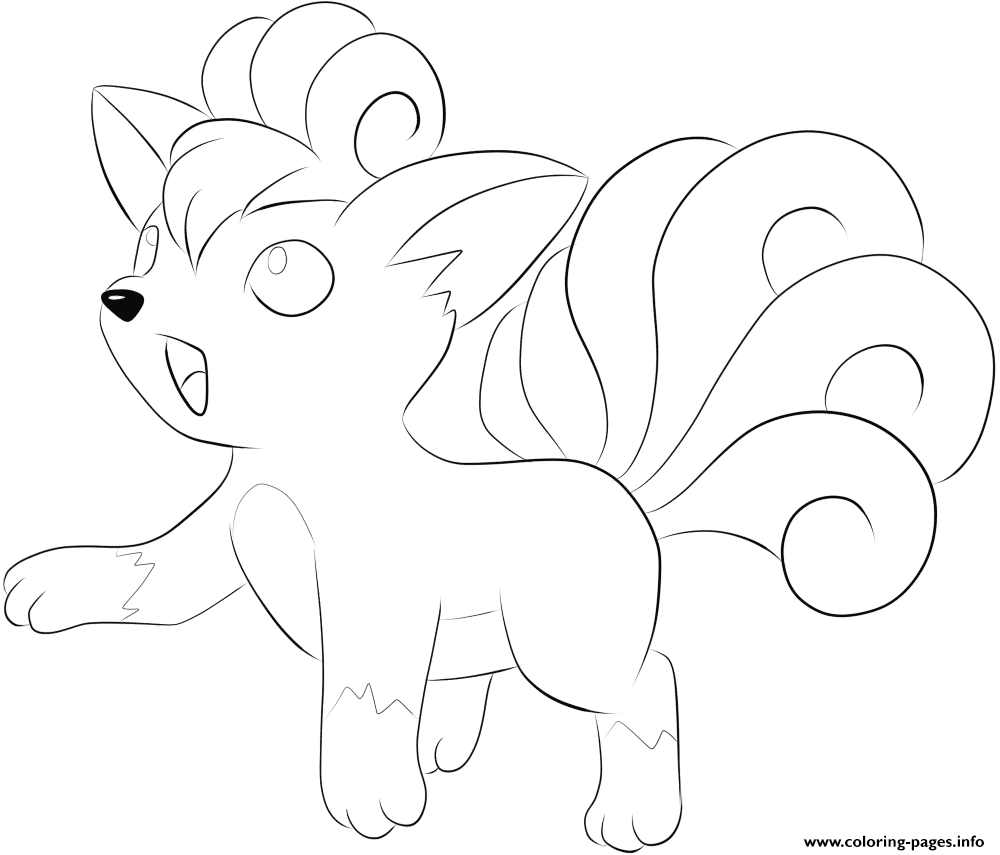 037 Vulpix Pokemon Coloring Pages Printable