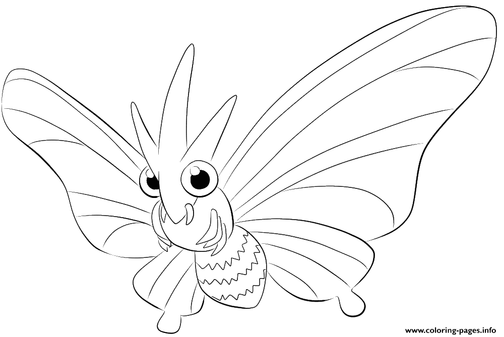 049 Venomoth Pokemon coloring pages