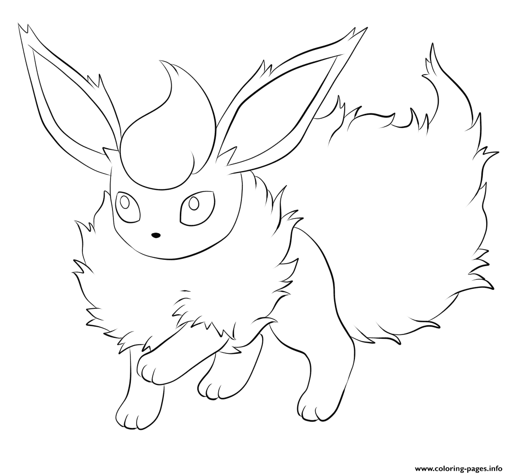 136 Flareon Pokemon coloring pages