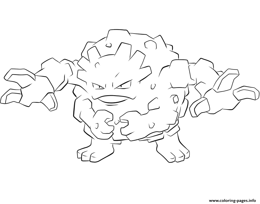 075 graveler pokemon coloring pages