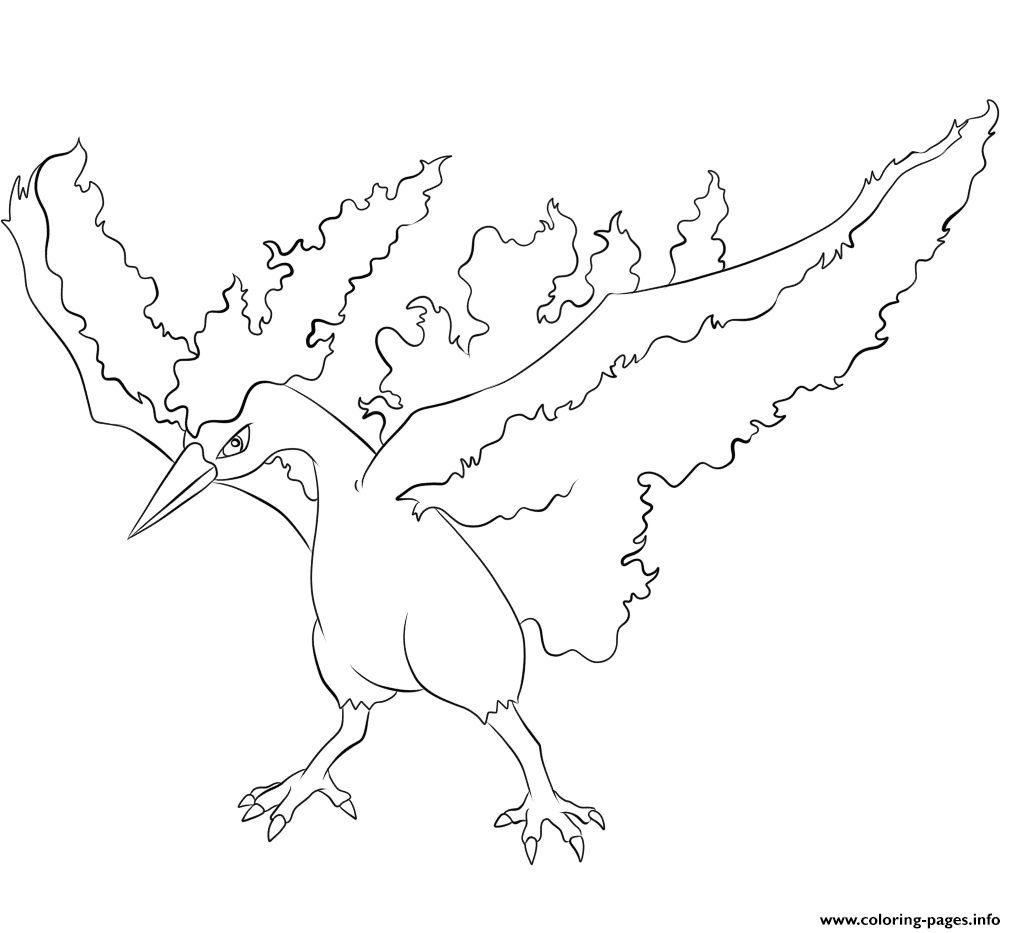 146 Moltres Pokemon coloring pages