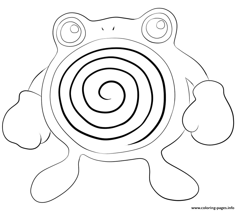 061 Poliwhirl Pokemon coloring pages