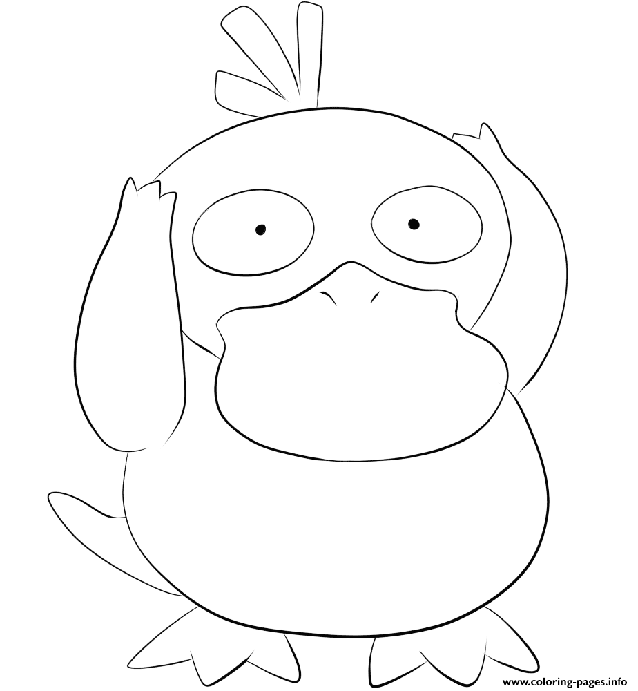 054 psyduck pokemon coloring pages printable