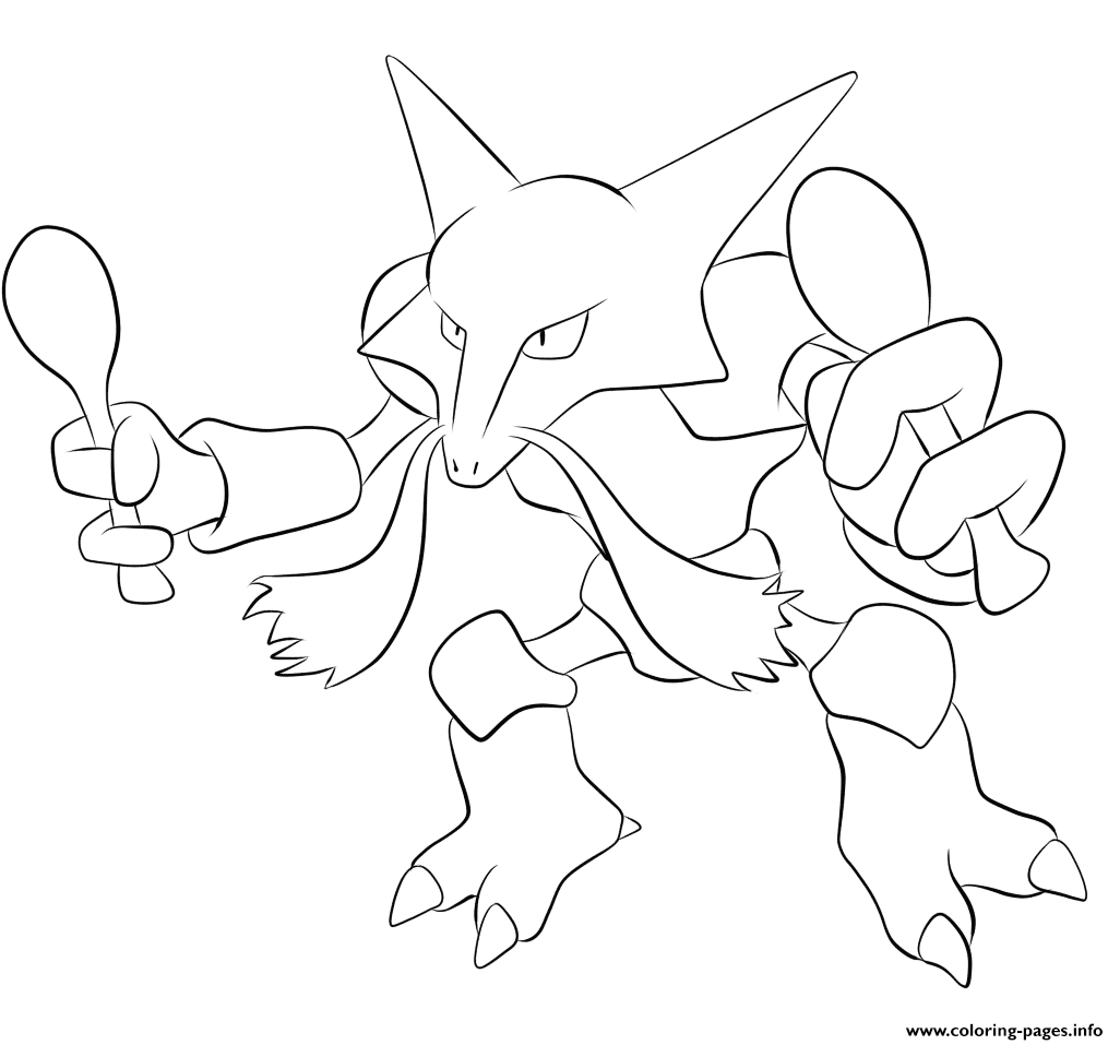 065 alakazam pokemon coloring pages printable