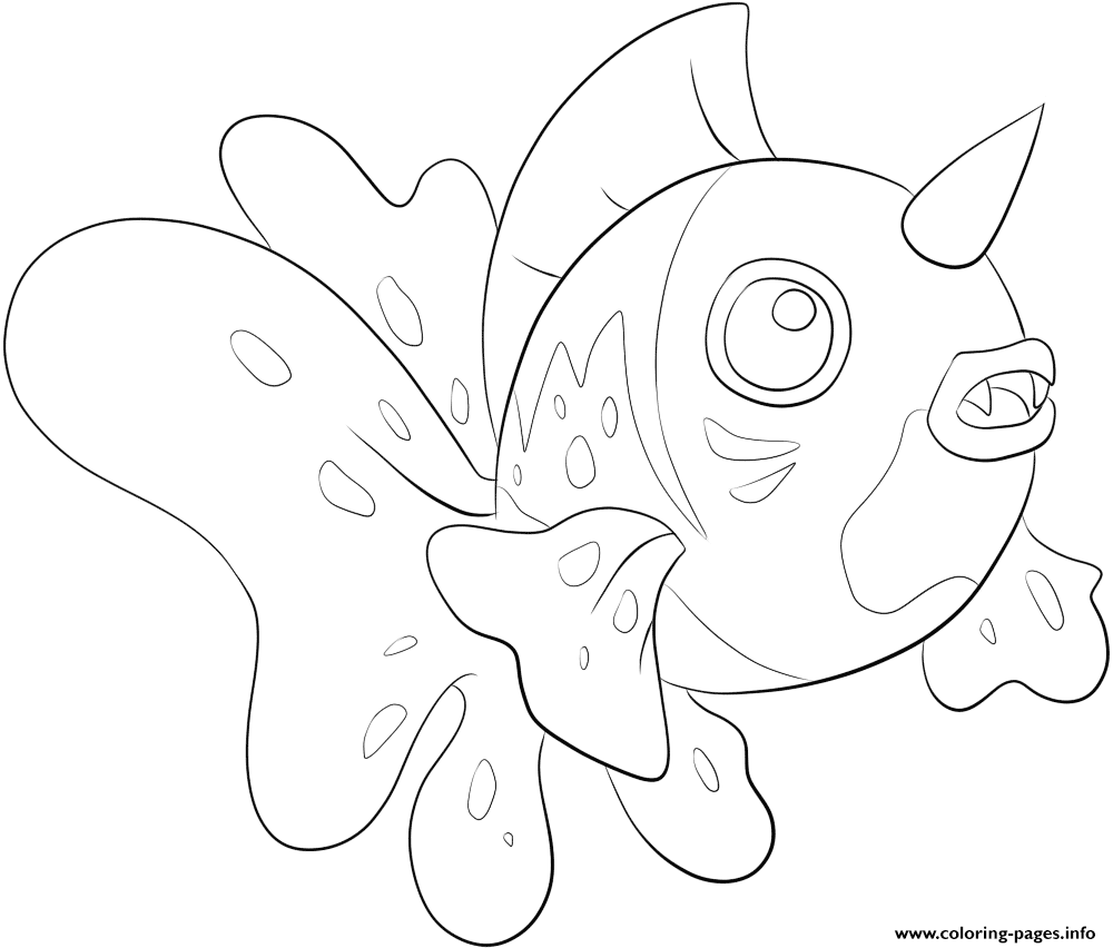 119 seaking pokemon coloring pages