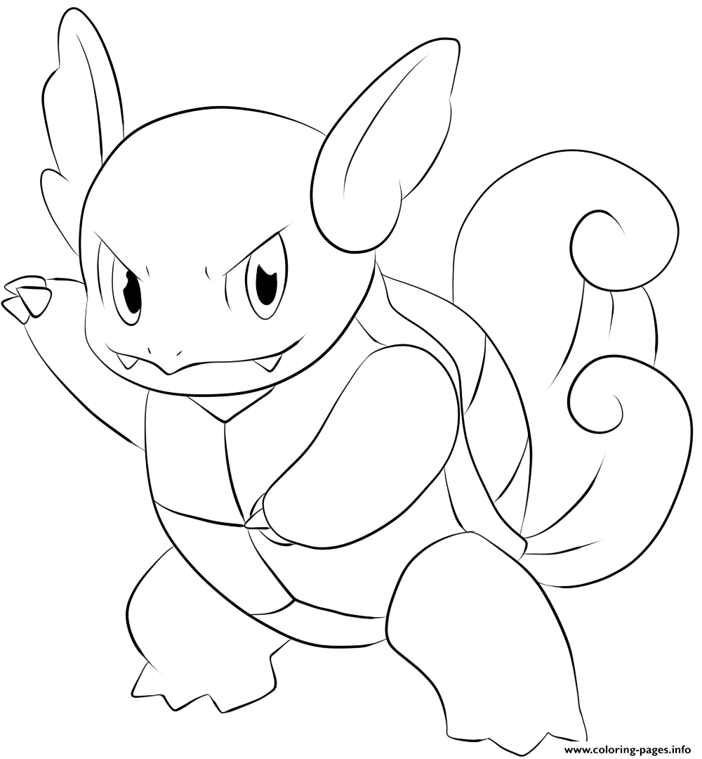 008 Wartortel Pokemon coloring pages