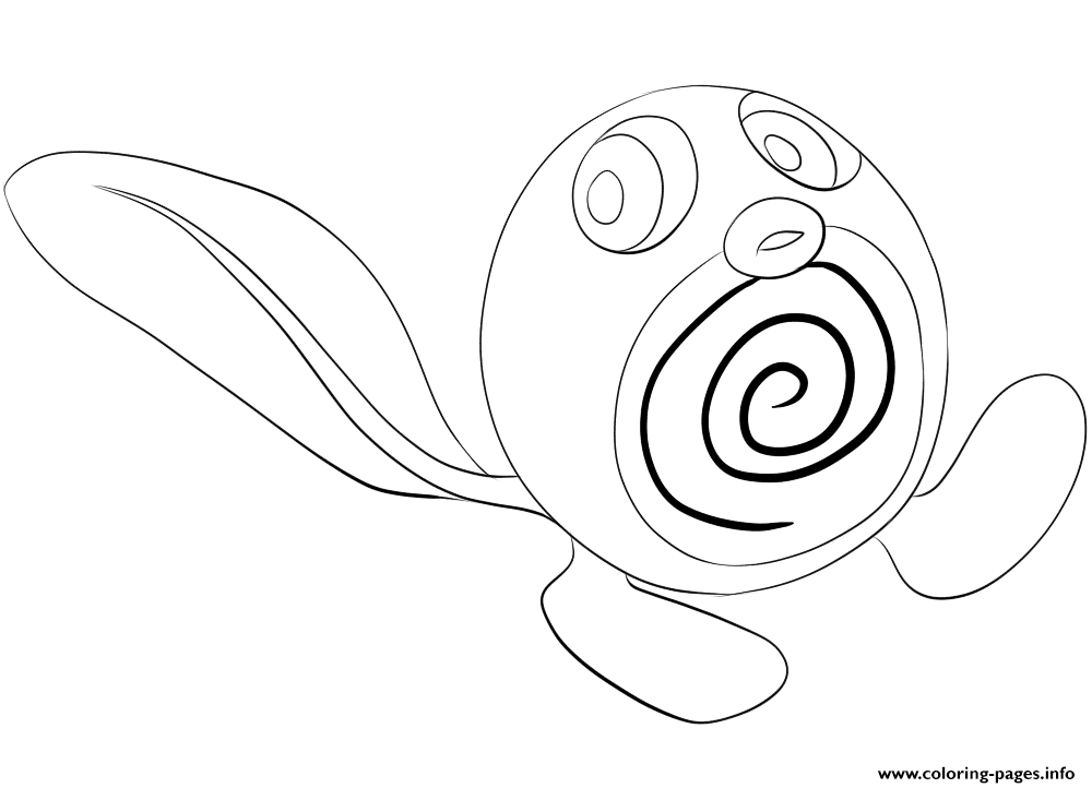 060 Poliwag Pokemon coloring pages