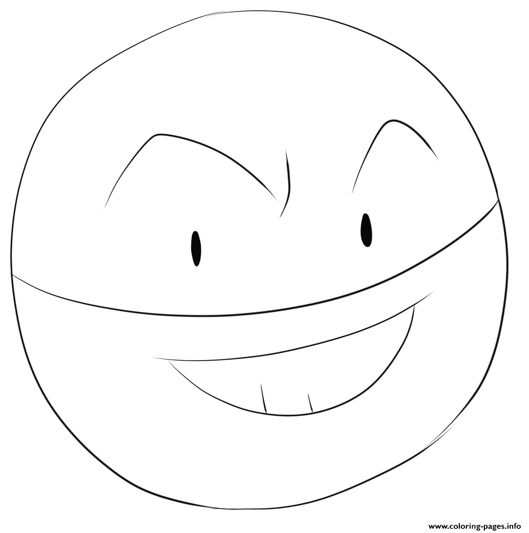 100 Voltorb Pokemon Coloring Pages Printable