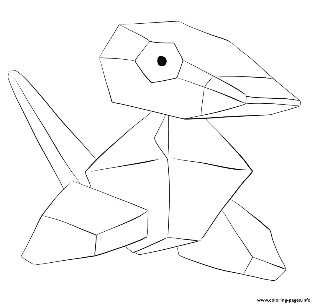 137 Porygon Pokemon coloring pages