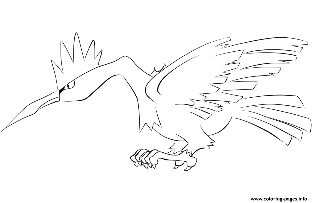 022 fearow pokemon coloring pages