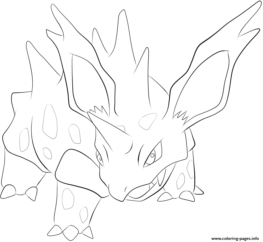 033 nidorino pokemon coloring pages printable