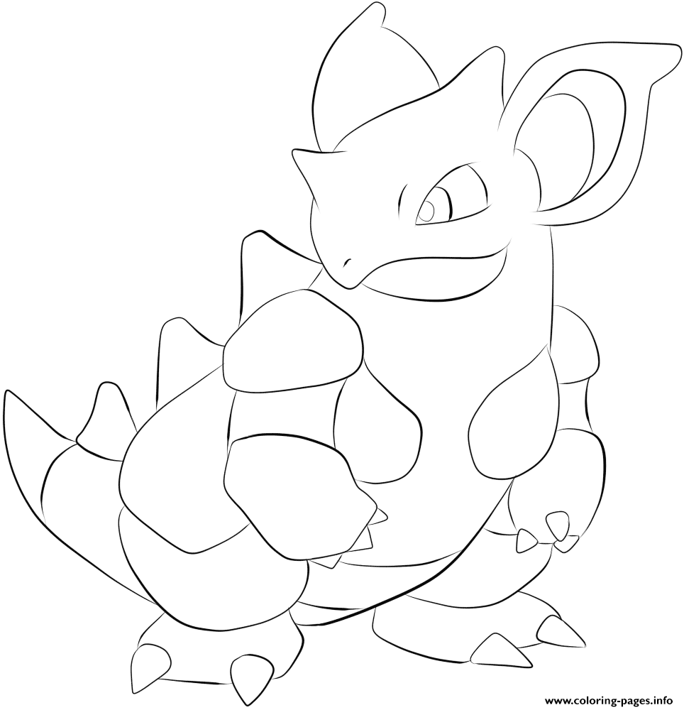 031 Nidoqueen Pokemon Coloring Pages Printable